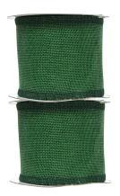 Green Burlap Ribbon 3 Inch 2 Rolls 20 Yards Unwired Rustic Jute Ribbon for Crafts, Mason Jars, Weddings, Party Decoration; by Mandala Crafts
