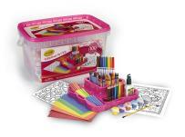 Crayola Fabulous Art Kit, Amazon Exclusive, Art Supplies, Over 100Piece, Gift for Girls, Age 5, 6, 7, 8, 04-0296