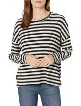 Three Dots Women's Poorboy Boxy Loose Mid Shirt