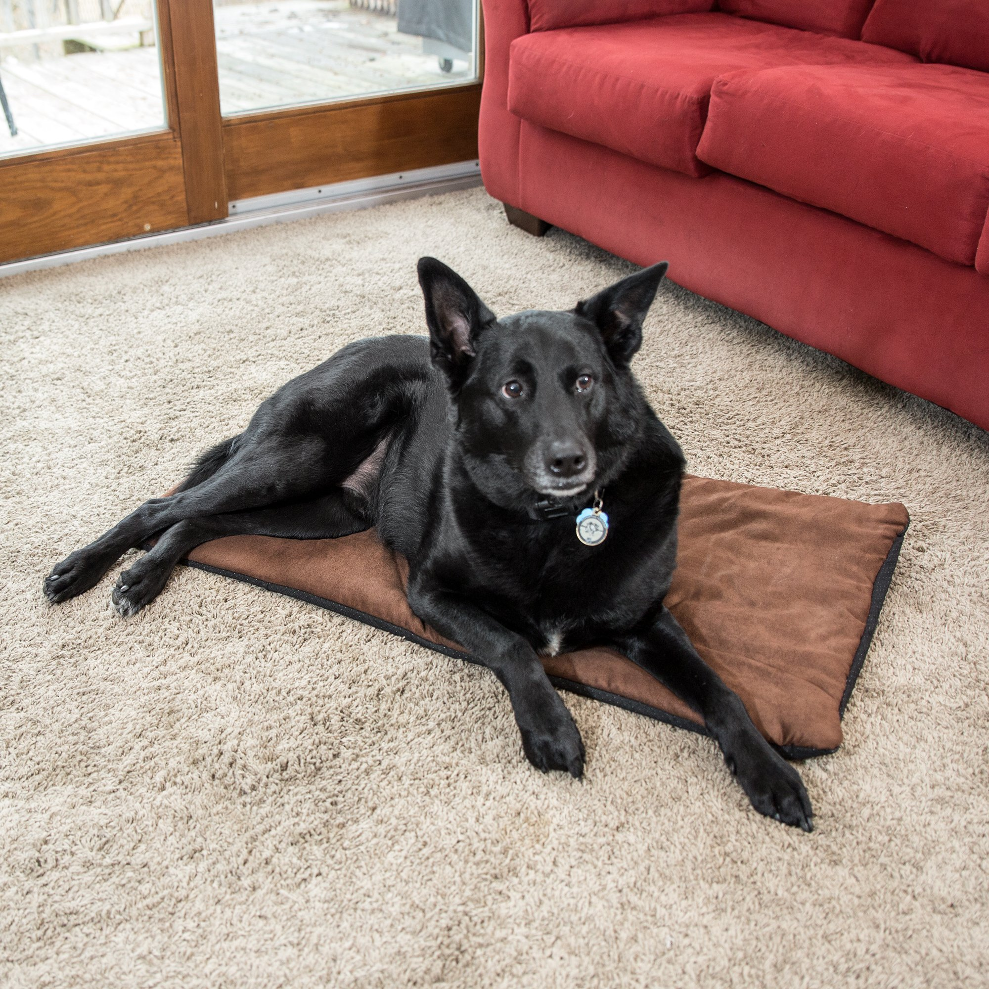 Premium Pet Bed Mat Soft Self Warming Dog Bed Crate Pad For Dogs And Cats Medium Dog Beds Small Dog Beds Cat Bed With Reflective Core Puppy Bed