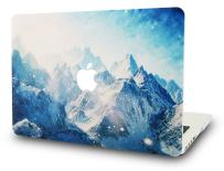 "KECC Laptop Case for MacBook Air 13"" Retina (2020/2019/2018, Touch ID) Plastic Case Hard Shell Cover A2179/A1932 (Snow Mountain)"