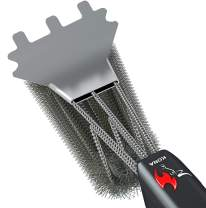 Kona Speed/Scrape Grill Brush and Scraper - Flex-Grip Handle, Stainless Steel Bristles, Free 5 Yr Limited Warranty, Great BBQ Grill Cleaner for Gas Grills & Cast Iron Grates, Heavy-Duty Metal Scraper