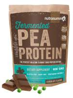 1.16 lbs 100% Pea Protein Powder from North American Farms, Plant Protein Powder Fermented Chocolate(Non-GMO, Gluten Free, Vegan Friendly)