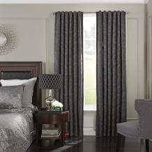 "Beautyrest 52"" x 108"" Insulated Darkening Single Panel-Rod Pocket Window Treatment Living Room, Pewter"