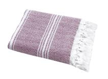 "SALBAKOS Incredibly Soft, Turkish Peshtemal Fouta Towel, Eco-Friendly and Oeko-Tex Certified 100% Cotton, Herringbone for Spa Bath Pool Sauna Picnic Throw Blanket (40""x70"", Burgundy)"