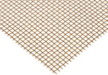 "Bronze Woven Mesh Sheet, Unpolished (Mill) Finish, ASTM E2016-06, 24"" Width, 36"" Length, 0.0026"" Wire Diameter, 38% Open Area"
