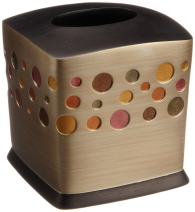 Popular Bath Tissue Box, Sunset Dots Collection, Gold