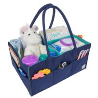 Baby Diaper Caddy Organizer for Changing Table - Large Portable Nursery Storage Bin for Diapers and Baby Essentials - Baby Shower Gift for Boy or Girl