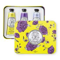 La Chatelaine Deluxe Hand Cream Chartreuse Collection, Set of 3 x 1 Oz: Plant-Based, Made in France with 20% Organic Shea Butter & Argan Oil, featuring Lavender, Pomegranate Mulberry, Citrus Frizz