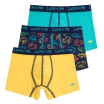 Lucky & Me | Liam Boys Boxer Briefs | Children's Tagless Soft Cotton Underwear | 3 Pack