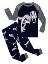 Family Feeling Dinosaur Little Boys Kids Pajamas Sets 100% Cotton Pjs