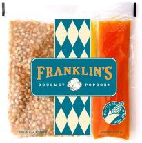 Franklin's Gourmet Popcorn All-In-One Pre-Measured Packs - 8oz. Pack of 24 - Butter Flavored Coconut Oil + Premium Butter Salt + Organic Corn, 100% Vegan - Best Movie Theater Taste – Made in USA