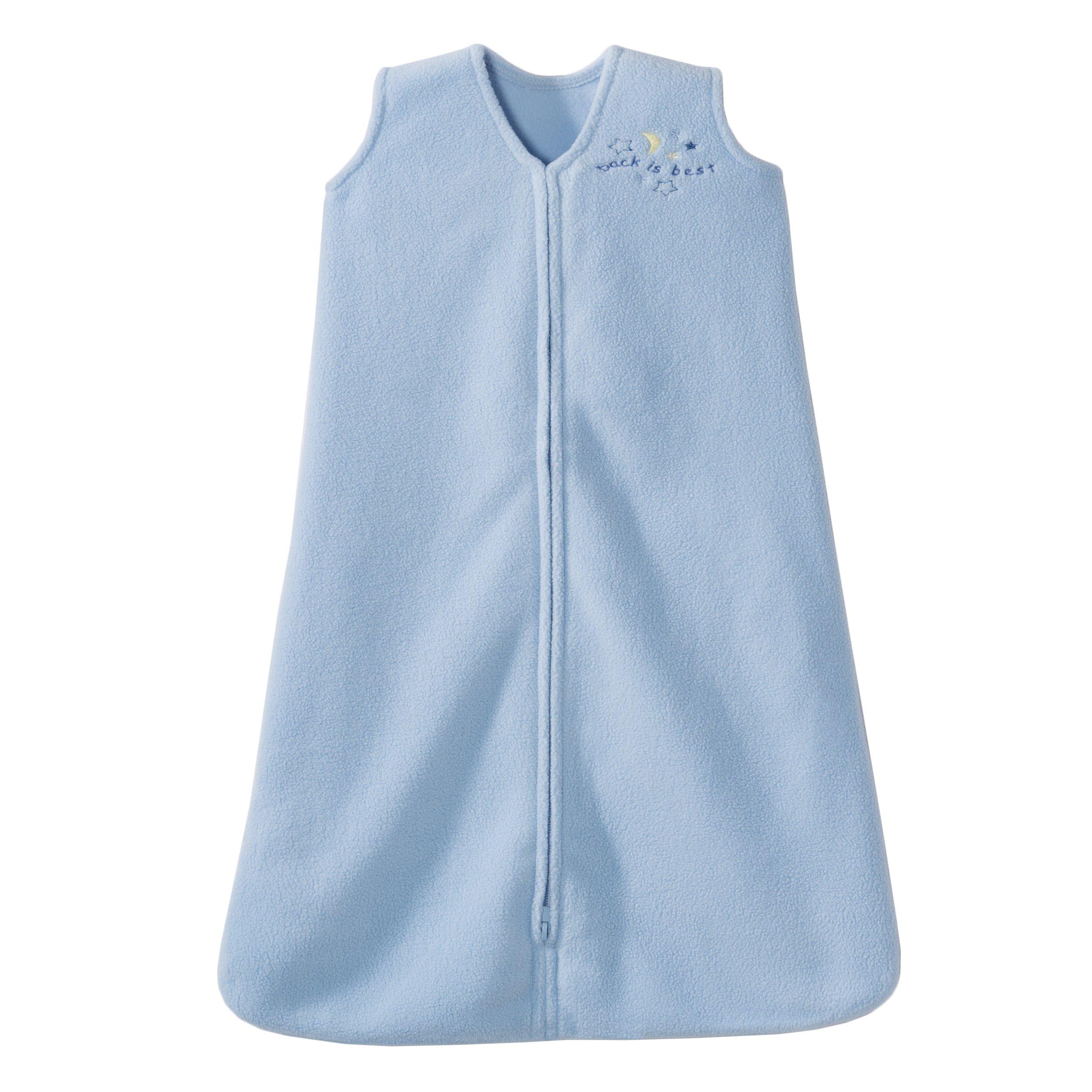 HALO Sleepsack Micro-Fleece Wearable Blanket, Baby Blue, X-Large