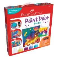 Faber-Castell Do Art Paint Pour Studio - No Mix Acrylic Paint Pouring Set for Kids - Makes 6 Fluid Art Projects, Multi (FC14342)