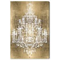 """The Oliver Gal Artist Co. Fashion and Glam Wall Art Canvas Prints 'Montecarlo Home Décor, 16"""" x 24"""", Gold, White"""