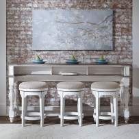 Liberty Furniture Magnolia Manor 4 Piece Set (1 Console 3 Stools), W76 x D22 x H36, Antique White