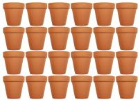 """Set of 24 Terra Cotta Pots! 3"""" x 2.95"""" Pots Perfect for Vegetable or Flower Gardens! 3 inch Clay Terra Cotta Pots! (24)"""