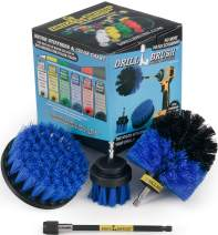 Cleaning Supplies - Drill Brush - Boat Accessories - Marine Spin Brush Set - Kayak - Raft - Boat - Canoe - Inflatable - Fishing Boat - Pond Scum, Oil Residue, Barnacles, Oxidation