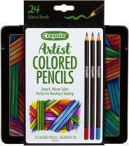 Crayola Colored Pencils Set, Artist Colored Pencils For Drawing, 24Ct (68-1224)