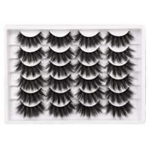 Newcally Lashes Fake Eyelashes 20MM Dramatic Long False Eyelashes Thick Fluffy Volume Faux Mink Eye Lashes 12 Pairs Pack