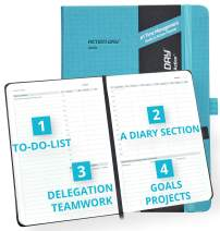 2020 Weekly/Monthly Planner by Action Day - All-in-ONE Layout Design, to Do Lists, Goals, Projects, Dated Diary/Calendar, Time Management - Makes It Easy for You to Get Things Done, 7x9,Turquoise Pro