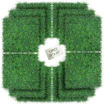 """MEETTOP 12 PCS-20""""x20""""Artificial Boxwood Fence Panel Greenery Wall Grass Wall-Use for Artificial Grass Wall, Garden Fence Backyard, Boxwood Hedge Wall Panel Leaves Backdrop Weddings&Parties Wall Decor"""
