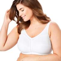 Comfort Choice Women's Plus Size Cotton Wireless Bra