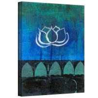 ArtWall Lotus Blossom Gallery Wrapped Canvas Art by Elena Ray, 32 by 24-Inch