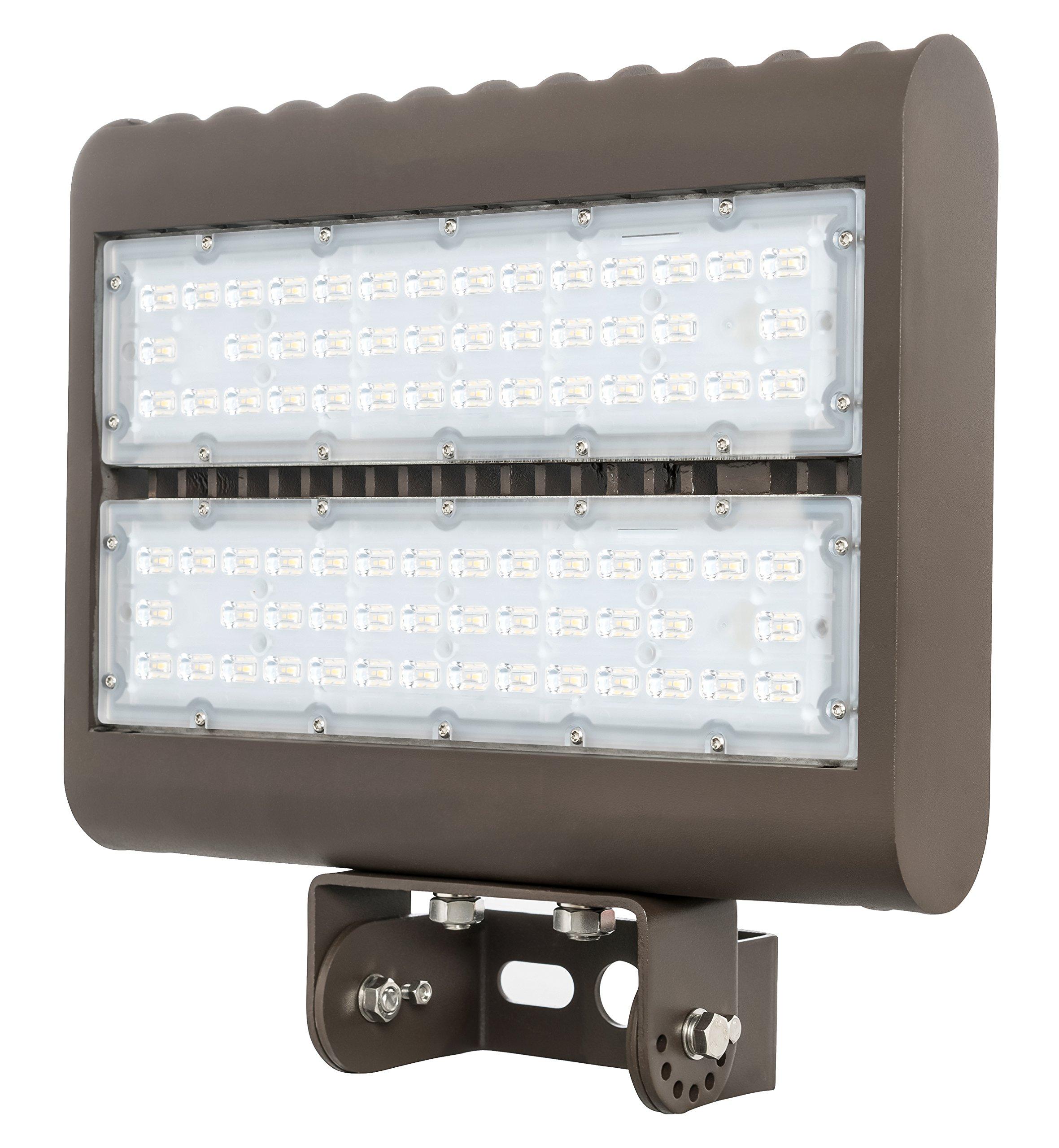 Westgate Outdoor LED Flood Light Fixture with Yoke Mount - Shoebox Parking Lot, Street, Area Lights - 120-277V - IP65 DLC Approved (80 Watt 3000K Warm White)