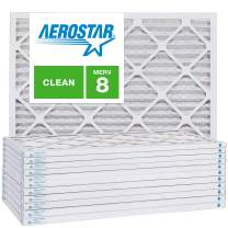 20x22x1 AC and Furnace Air Filter by Aerostar - MERV 8, Box of 12