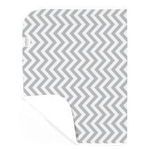 Kushies Deluxe Waterproof Changing Pad Liners - 20 x 30 inches Baby Changing Table Liners - Baby Changing Pads - Diaper Changing Flat Liner Pad Waterproof Portable (Grey Chevron)