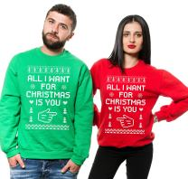 Silk Road Tees All I Want for Christmas is You Couple Matching Sweaters