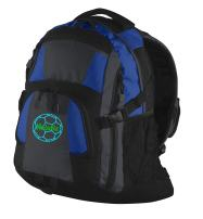 Personalized Soccer Gym Bag with Custom Text   Heavy Duty Urban Backpack with Customizable Embroidered Monogram Design (Royal/Magnet Grey/Black)