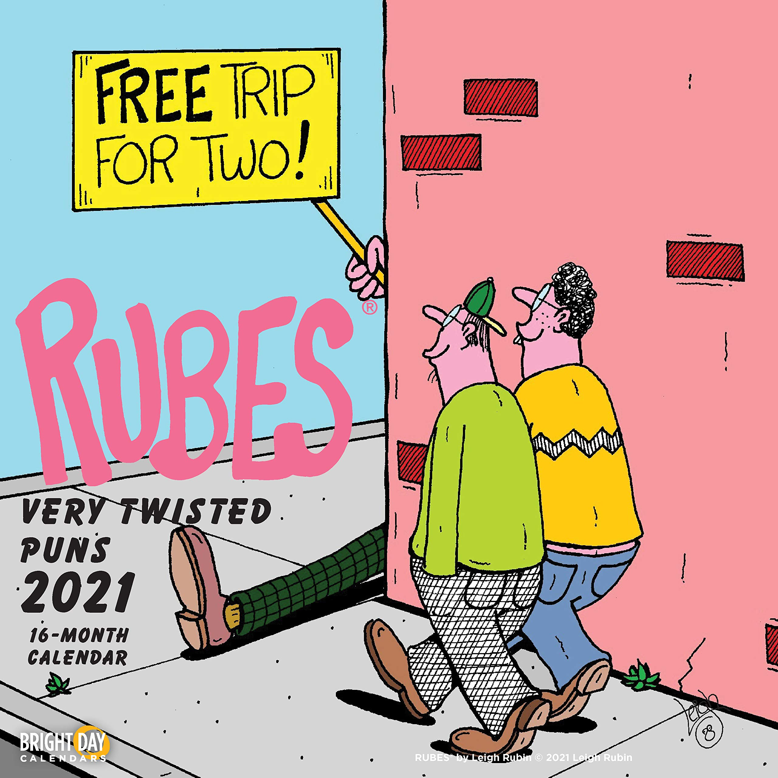 2021 Rubes Wall Calendar by Bright Day, 12 x 12 Inch, Humor Jokes Laughs Funny Novelty Comic Strip… (Twisted Puns)
