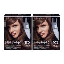 Clairol Nice'n Easy Perfect 10 Permanent Hair Color, 6 Light Brown, Pack of 2