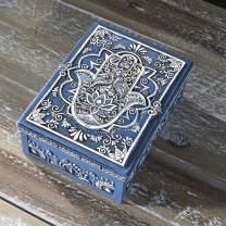 "Pacific Giftware Hamsa Symbol Sculptural Jewelry Trinket Keepsake Tarot Box Fengshui Lucky Talisman Home Accent Decor 5.25""L"