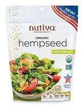 Nutiva Organic Raw US Grown Shelled Hempseed, 10-ounce