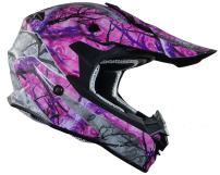 Vega Helmets VF1 Lightweight Dirt Bike Helmet – Off-Road Full Face Helmet for ATV Motocross MX Enduro Quad Sport, 5 Year Warranty (Pink Skull Camo, Medium)