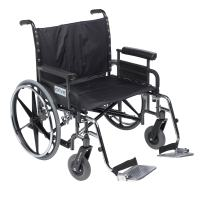 Drive Medical Deluxe Sentra Heavy Duty Extra-Extra-Wide Wheelchair, Detachable Full Arms/Swing Away Foot Rests, Black