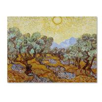 Olive Trees 1889 Artwork by Vincent van Gogh, 14 by 19-Inch Canvas Wall Art