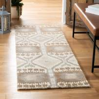 "Safavieh Wyndham Collection WYD720A Handmade Natural and Multi Wool Runner, 2 feet 3 inches by 9 feet (2'3"" x 9')"