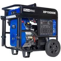 DuroMax XP15000E 15000-Watt 23 HP Portable Gas Fuel Electric Start Generator,Blue/Black