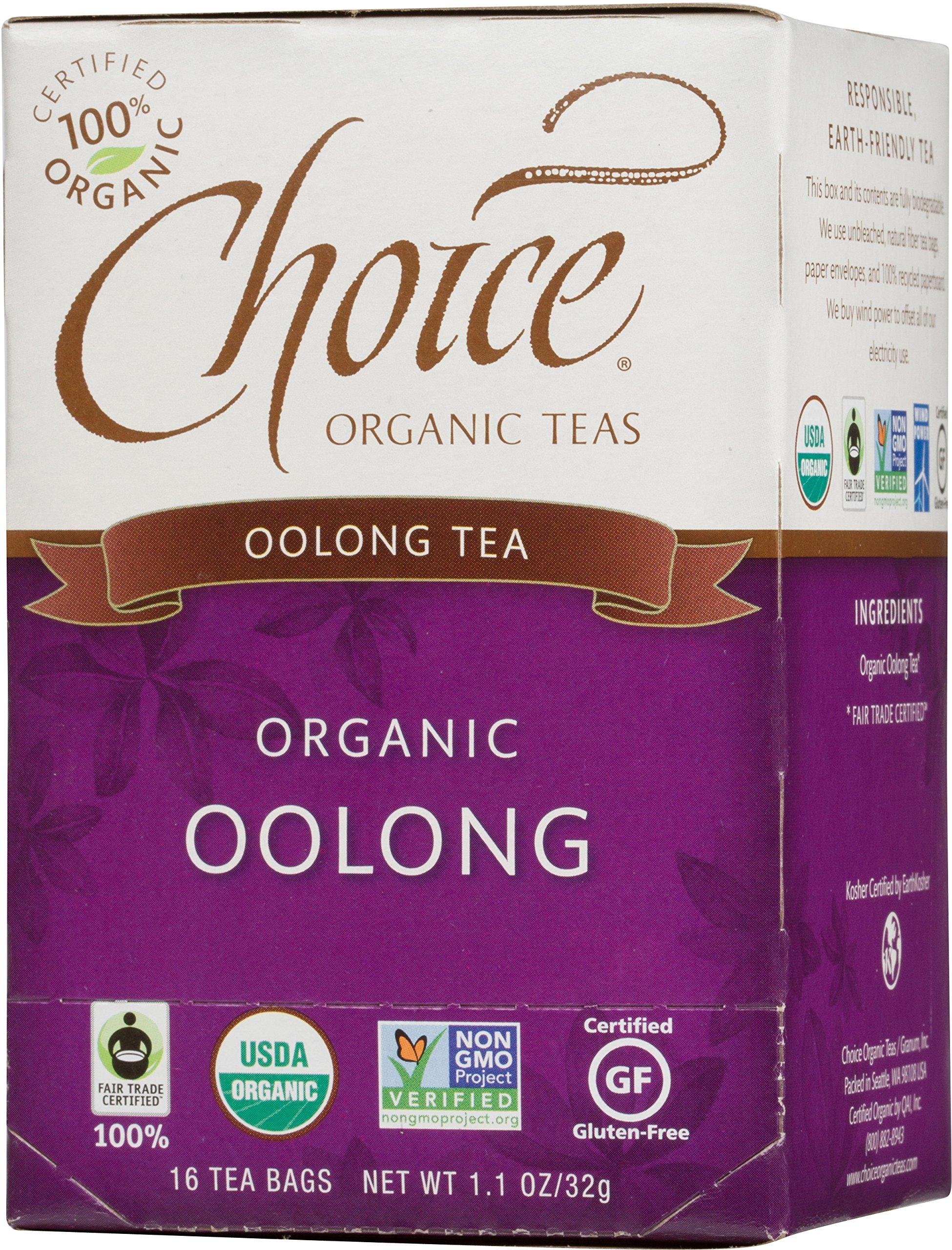 Choice Organic Teas Oolong Tea, 16 Count