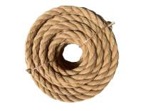 ATERET Twisted ProManila Rope Cordage I UnManila 3 Strand Synthetic Polypropylene Rope I 1 1/2 inch x 50 feet I Multipurpose, Lightweight, Weather-Resistant Cord for Decor, Landscaping & DIY Projects