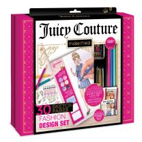 Make It Real - Juicy Couture Fashion Design Set. Inspirational Fashion Design Coloring Book for Girls. Includes Sketchbook, Colored Pencils, Stencils, Rhinestone Stickers, and Fashion Design Guide