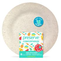 Preserve Compostable Small 7 Inch Side Plates Kitchen Supplies, Natural