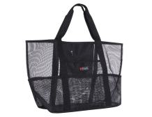 Holly LifePro Mesh Beach Bag Toy Tote Bag Market Grocery & Picnic Tote with Oversized Pockets