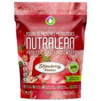 NUTRALEAN Whey Protein + Prebiotic Fiber Meal Replacement Shakes for Weight Loss | Nut-Free Gluten-Free Sugar-Free Low Carb Keto Paleo | 100% Natural Whey Supplement | 35 Scoops 908g Real Strawberry