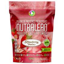 NUTRALEAN Whey Protein + Prebiotic Fiber Meal Replacement Shakes for Weight Loss   Nut-Free Gluten-Free Sugar-Free Low Carb Keto Paleo   100% Natural Whey Supplement   35 Scoops 908g Real Strawberry