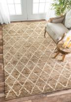 nuLOOM Danika Hand Knotted Jute Rug, 3' x 5', Natural